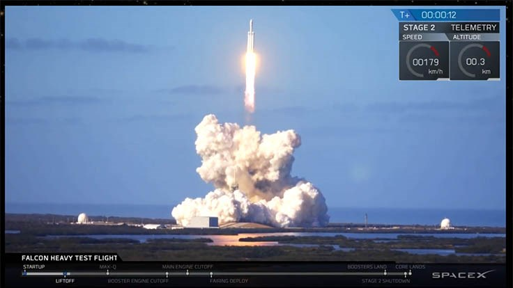SpaceX launches Falcon Heavy rocket