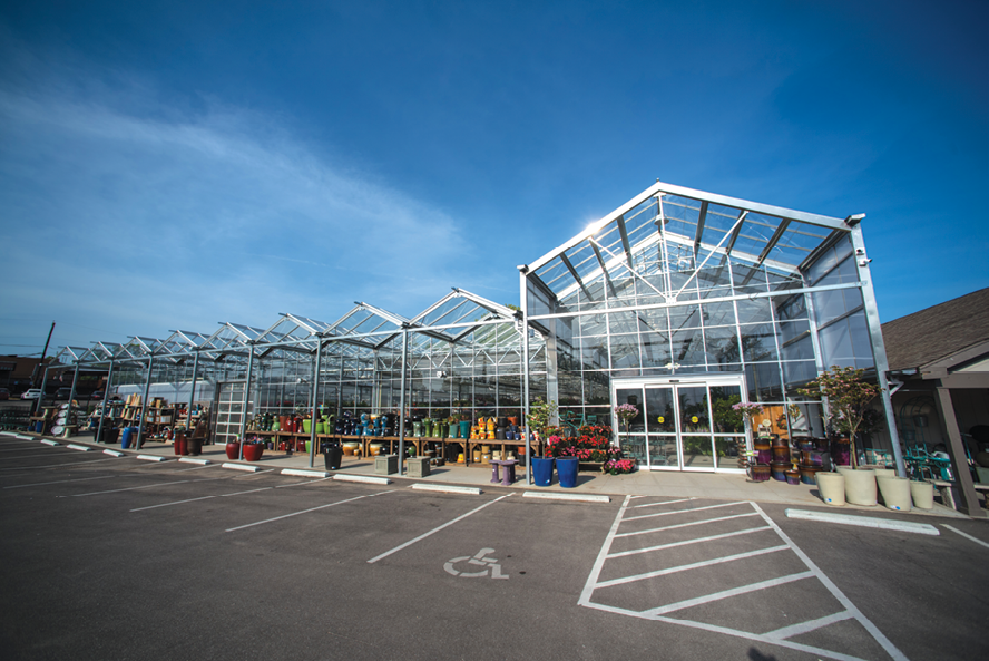 white oak updated and expanded its greenhouse space last year adding facilities with panels that open and close with changing weather - White Oak Garden Center