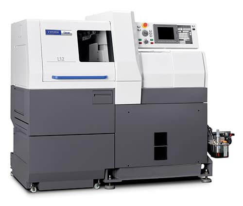 CINCOM L12 is a Swiss CNC automatic lathe manufactured by Citizen Machinery Co