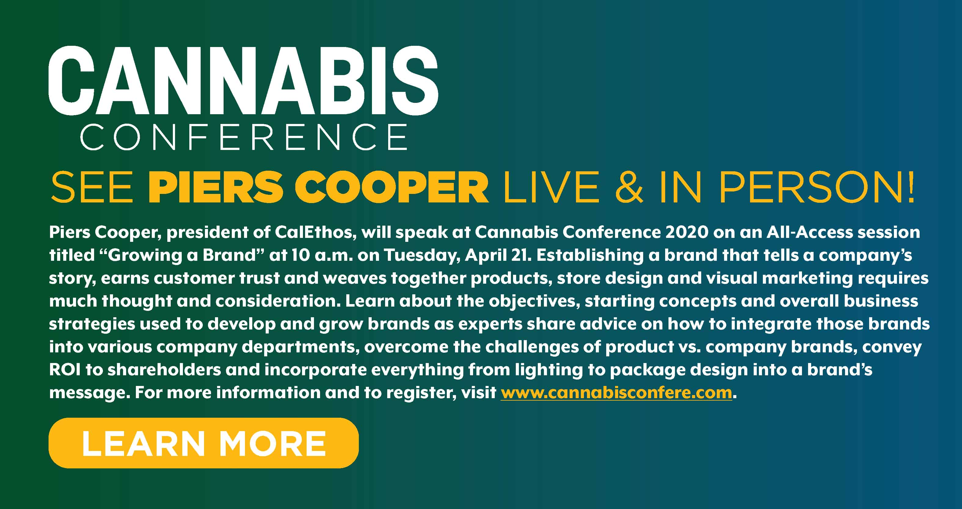 piers cooper cannabis conference