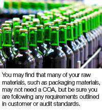 Raw Materials: Selection, Specifications, and Certificate of