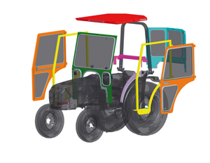 cozy ez cab tailor made for utility tractors golf course industry golf course industry