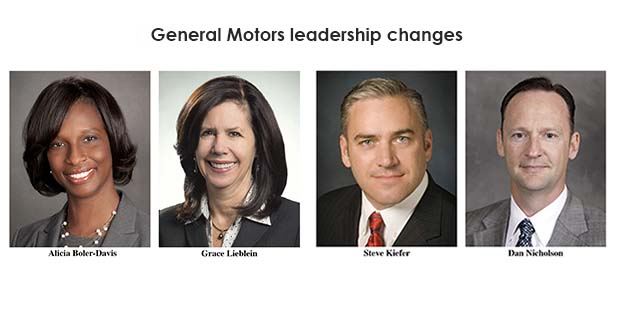 General Motors promotes four executives
