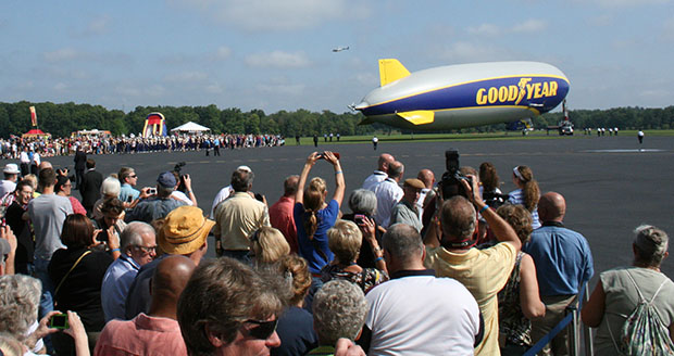 Goodyear blimp Wingfoot One after christening