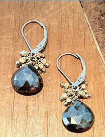 Pyrite Cluster earrings - Image