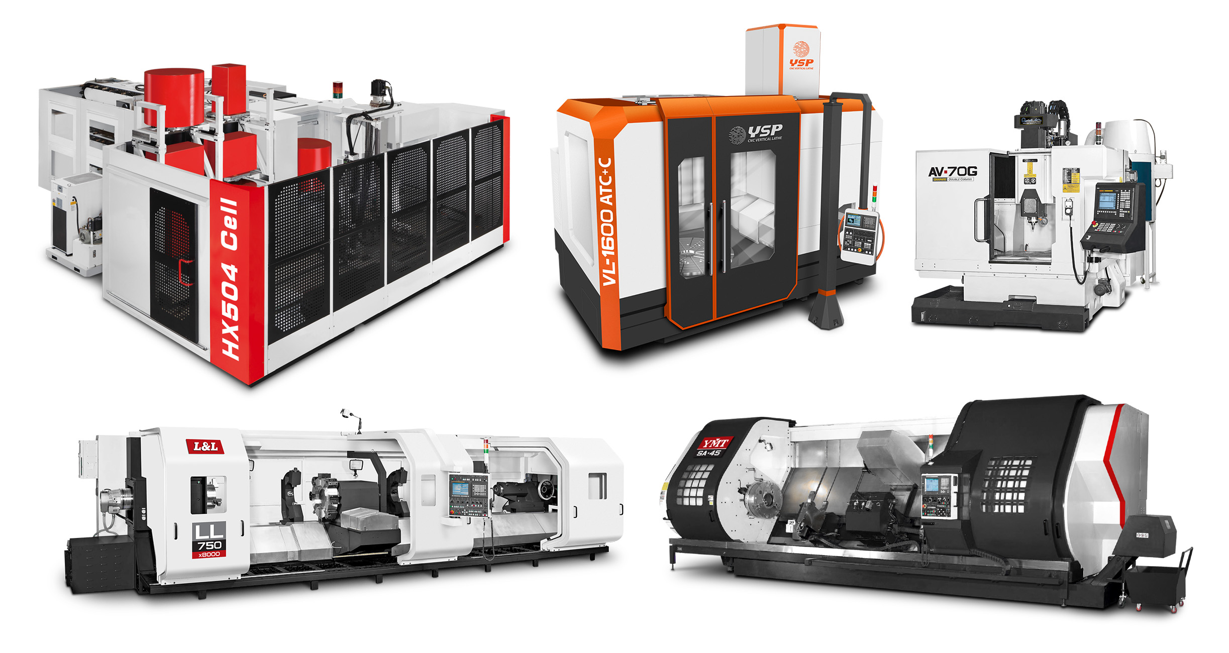 YMT FMC systems, machining centers, and lathes