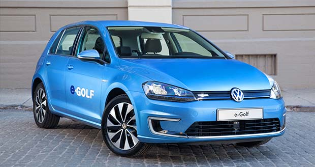 Volkswagen e-Golf starts at about $36,000