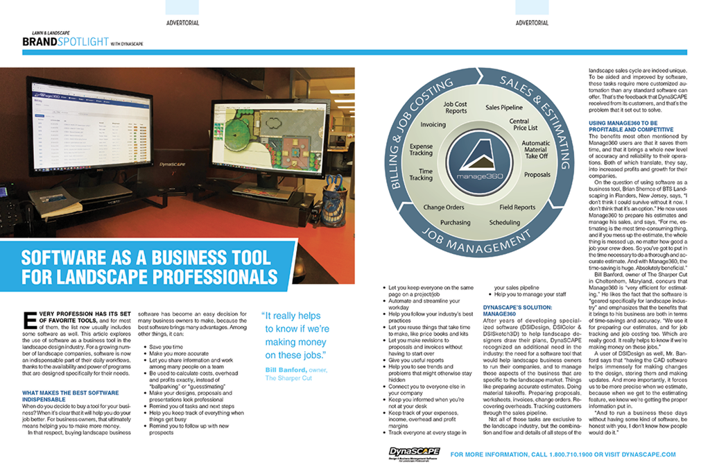 lawn landscape august 2018 software as a business tool for landscape professionals