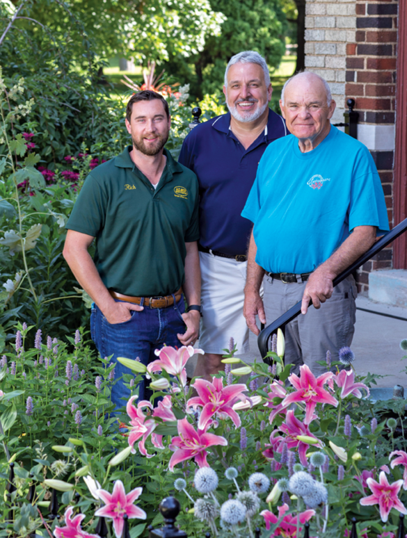 From Left Rich Christakes Ceo Of Alsip Home Nursery Jim Jenkins Owner Lawn Garden