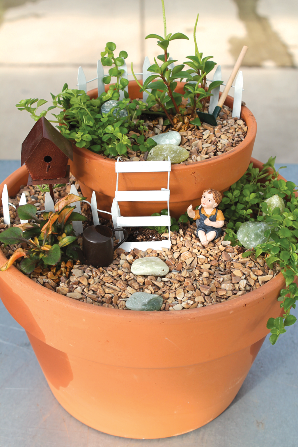 wilsons garden center uses a mix of supplier products and found objects to create realistic miniature garden scenes - Wilsons Garden Center