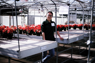 Graduate students in Michigan State University's Department of Horticulture presented lighting research with Drs. Roberto Lopez and Erik Runkle at the Michigan State University Lighting Solutions Open House Feb. 3.