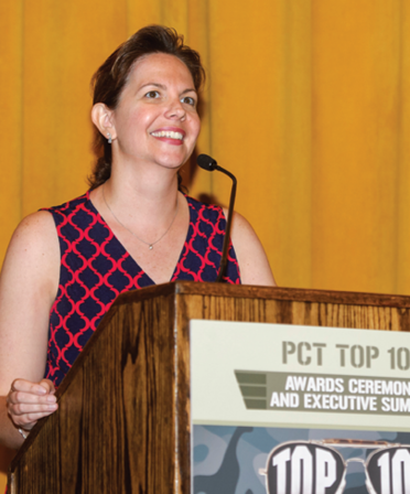 PCT Editor Jodi Dorsch welcomes attendees to the awards ceremony.