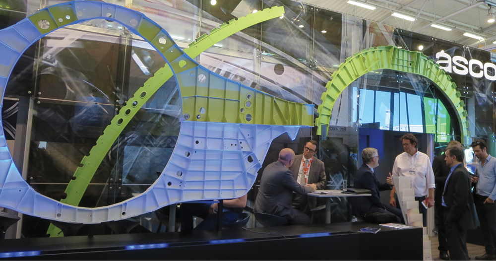 Asco's stand featured F-35 bulkheads.
